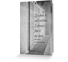 Jane Austen Book Greeting Card