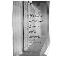 Jane Austen Book Poster