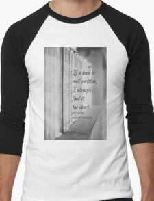 Jane Austen Book Men's Baseball ¾ T-Shirt