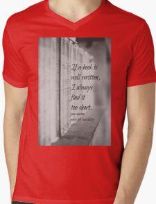 Jane Austen Book Mens V-Neck T-Shirt