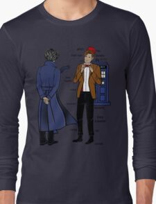 Sherlock meets the Doctor Long Sleeve T-Shirt