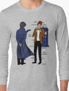 Sherlock meets the Doctor Long Sleeve T-Shirt