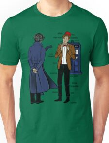 Sherlock meets the Doctor Unisex T-Shirt
