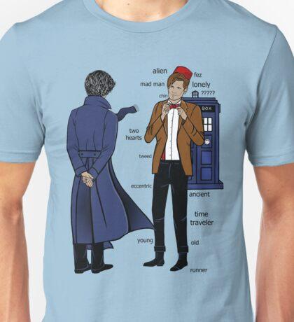 Sherlock meets the Doctor Unisex T-Shirt