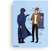 Sherlock meets the Doctor Metal Print