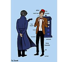 Sherlock meets the Doctor Photographic Print