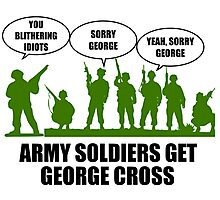 Army Soldiers Get George Cross Photographic Print