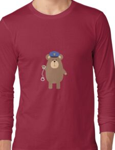 Police Bear with handcuffs Long Sleeve T-Shirt