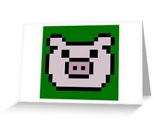 Pig (8-bit / 16-bit / Pixelated) Greeting Card