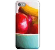 Red Apples in a Blue Bowl iPhone Case/Skin