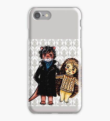Otter Holmes & Hedgehog Watson iPhone Case/Skin