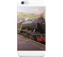 Flying Scotsman at Kingswear. iPhone Case/Skin
