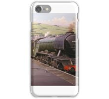 Flying Scotsman at Kingswear. iPhone Case/Skin