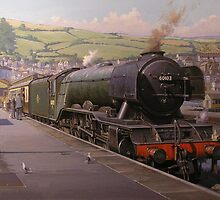 Flying Scotsman at Kingswear. by Mike Jeffries