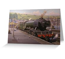 Flying Scotsman at Kingswear. Greeting Card