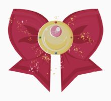 Sailor Moon Bow: Moon Prism Power Brooch  Kids Tee