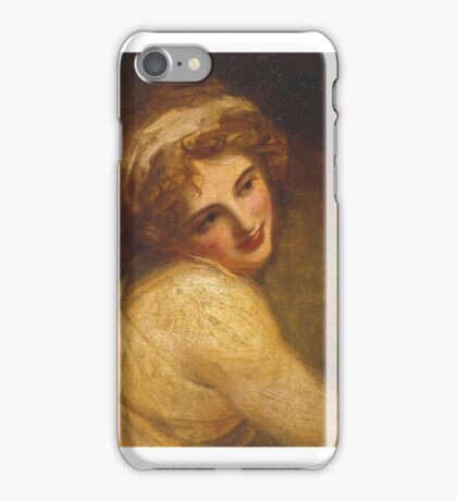 George Romney    Lady Hamilton (as a Figure in 'Fortune Telling') iPhone Case/Skin