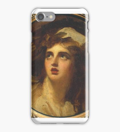George Romney  Lady Hamilton as Cassandra iPhone Case/Skin