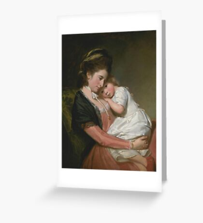 George Romney    Mrs Johnstone and her Son, Greeting Card
