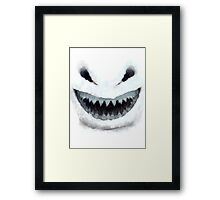 Doctor Who - Evil Snowman Framed Print