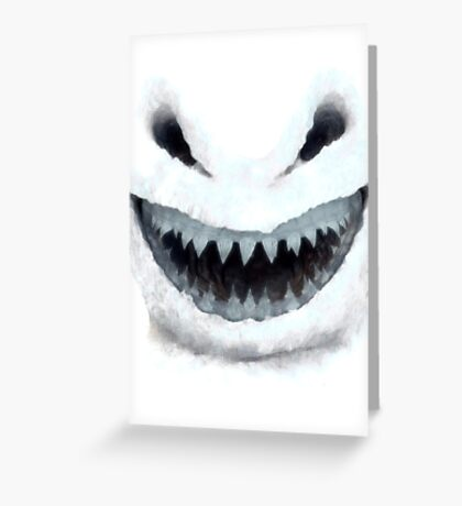 Doctor Who - Evil Snowman Greeting Card