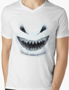 Doctor Who - Evil Snowman Mens V-Neck T-Shirt