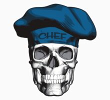 Chef Skull: Blue Chef Hat by dxf1969