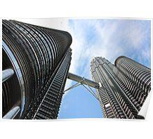 Steel Twins - Kuala Lumpur, Malaysia. Poster