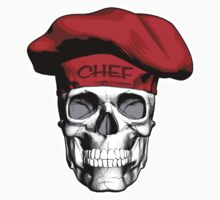 Chef Skull: Red Chef Hat by dxf1969
