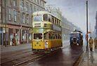 Glasgow tram in Sauchiehall Street by Mike Jeffries