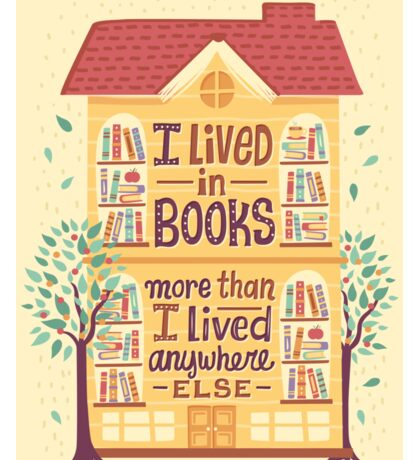 Lived in books Sticker