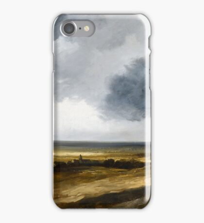 Georges Michel, Panoramic Landscape with a Village and Windmill iPhone Case/Skin