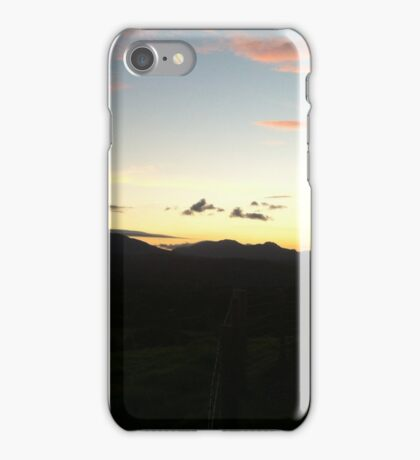 Sunset over Snowdonia iPhone Case/Skin