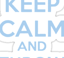 Keep Calm and Throw a Blanket Over It Sticker