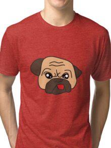 Funny Pug best t-shirt Tri-blend T-Shirt