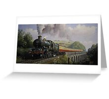 GWR Castle on Broadsands viaduct Greeting Card