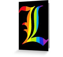 Rainbow L Greeting Card
