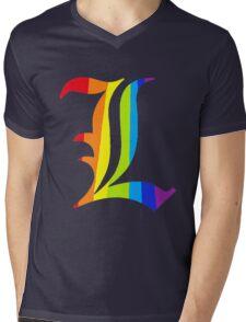 Rainbow L Mens V-Neck T-Shirt