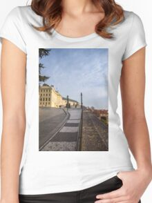Prague Castle Women's Fitted Scoop T-Shirt