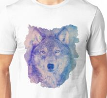 Wolf in blues Unisex T-Shirt