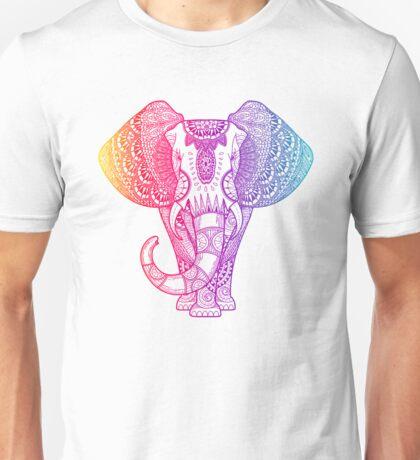 Colorful Rainbow Elephant Unisex T-Shirt