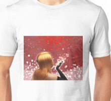 Girl blowing snow Unisex T-Shirt