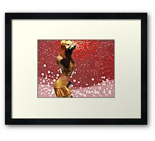 Girl blowing snow 2 Framed Print