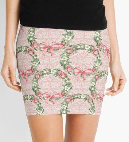 Flower Diadem Ribbon Mini Skirt