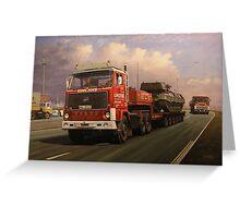 Lumsden's big Volvo Greeting Card