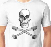 Carpet Installer Skull Unisex T-Shirt