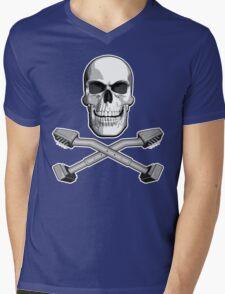 Carpet Installer Skull Mens V-Neck T-Shirt
