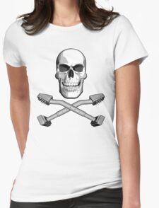 Carpet Installer Skull Womens Fitted T-Shirt