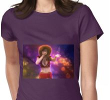 Girl blowing snow 3 Womens Fitted T-Shirt