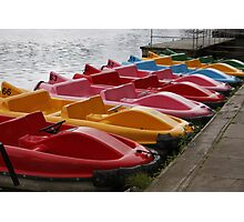 Little Coloured Boats Photographic Print